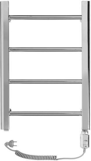 Grzejnik łazienkowy wetherby - grzejnik elektryczny, wykończenie proste, 400x600, chromowany