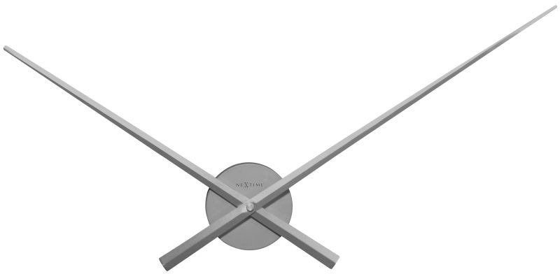 Nextime - zegar ścienny hands - srebrny