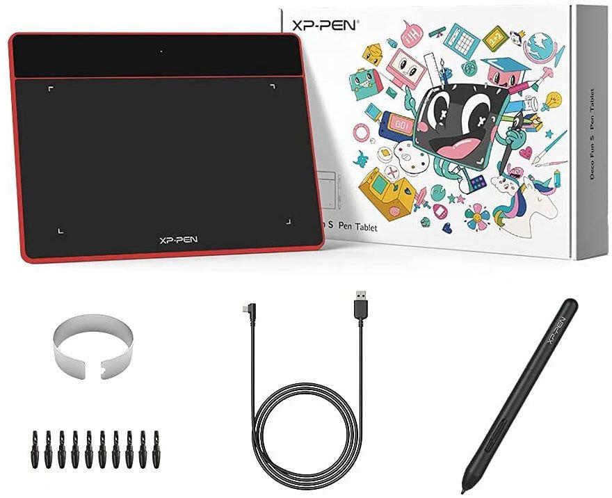 Tablet graficzny XP-Pen Deco Fun S czerwony