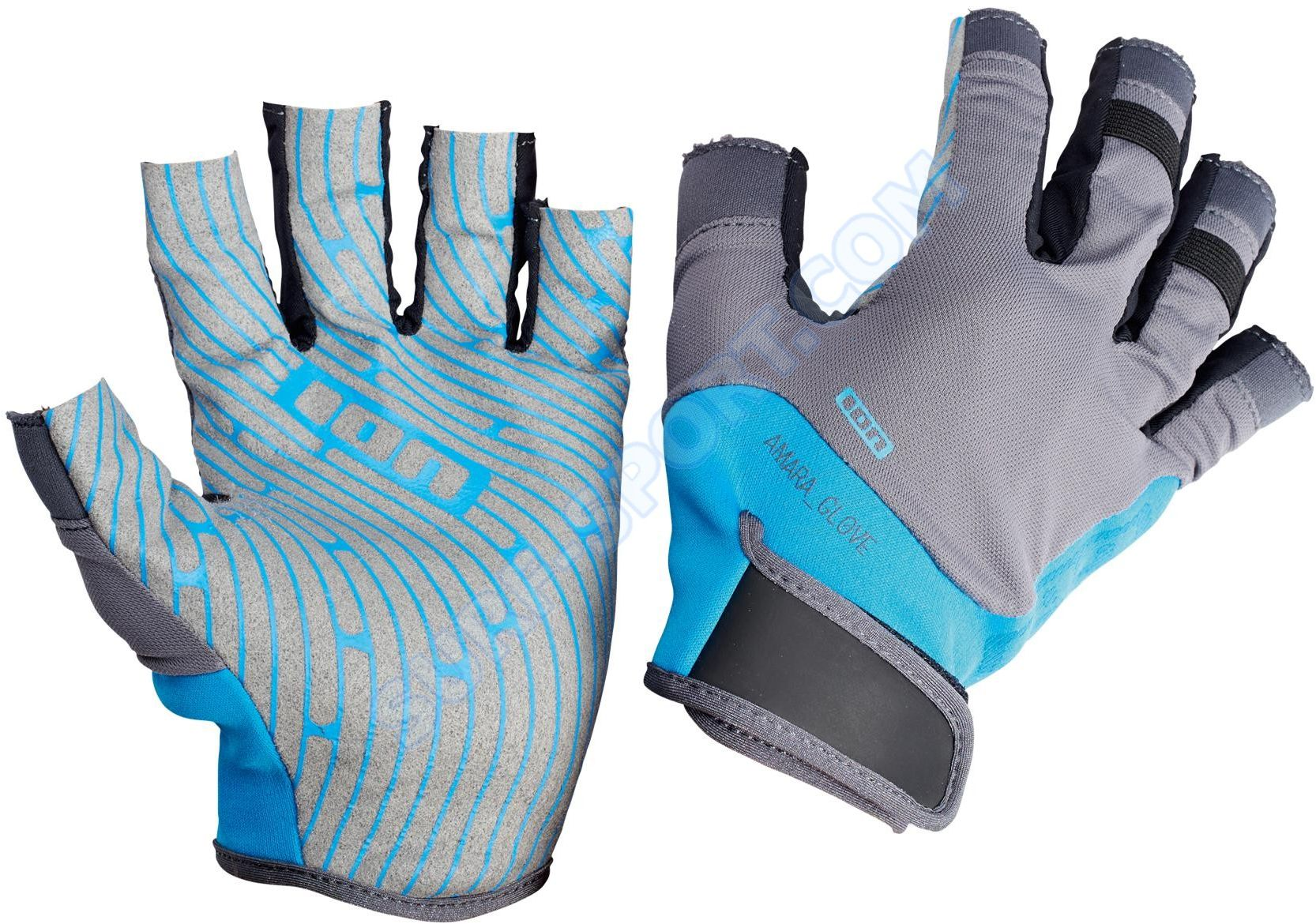 Rękawiczki ION Amara Gloves Half Finger 2018 Blue/Gray