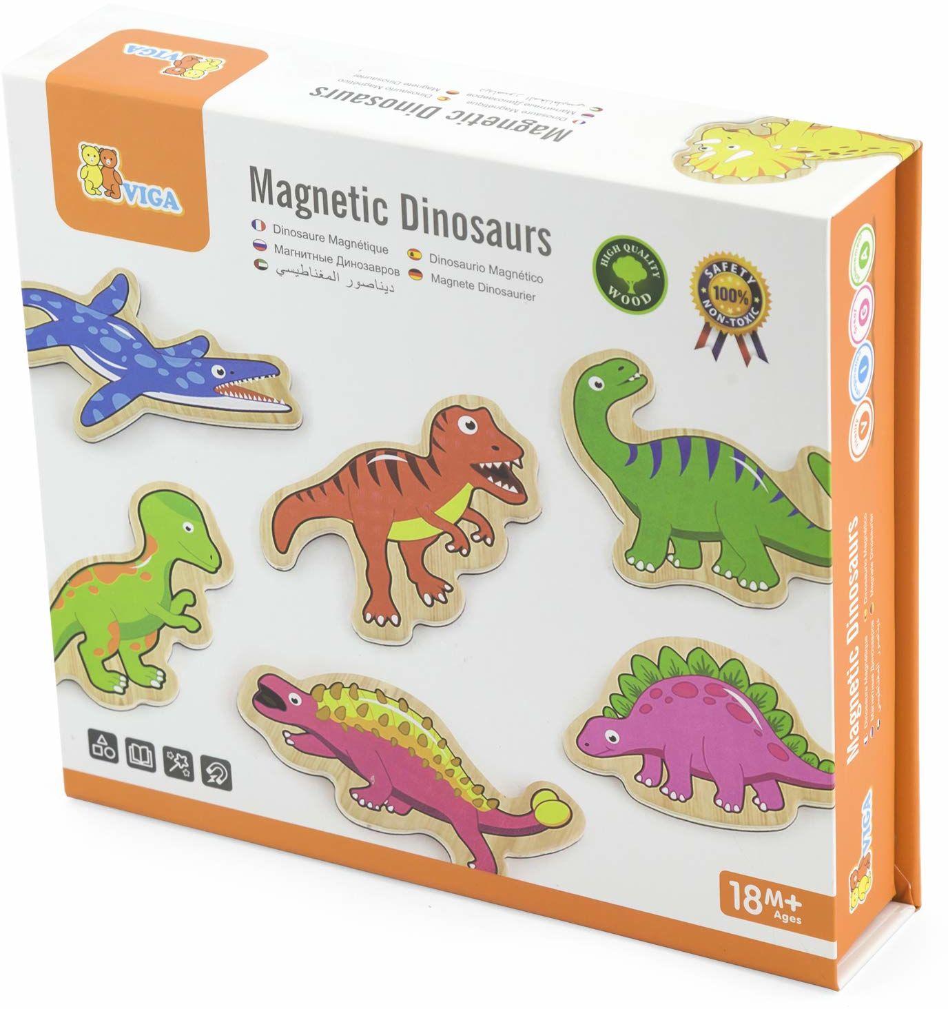 Viga 50289 zabawki - drewniane dinozaury magnetyczne - 20 sztuk