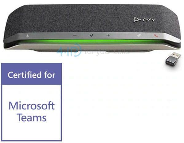 Poly Sync 40+ MS bezprzewodowy zestaw głośnomówiący Bluetooth USB (adapter)