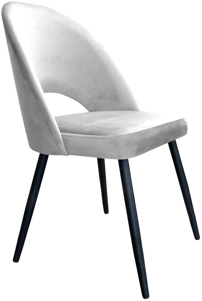 Krzesło ISKAR VELVET jasno szare