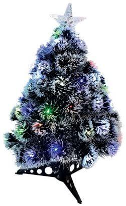 Visco Trading włókno optyczne drzewo LED RGB i gwiazda końcówka, akryl, zielony, 1 x 1 x 60 cm