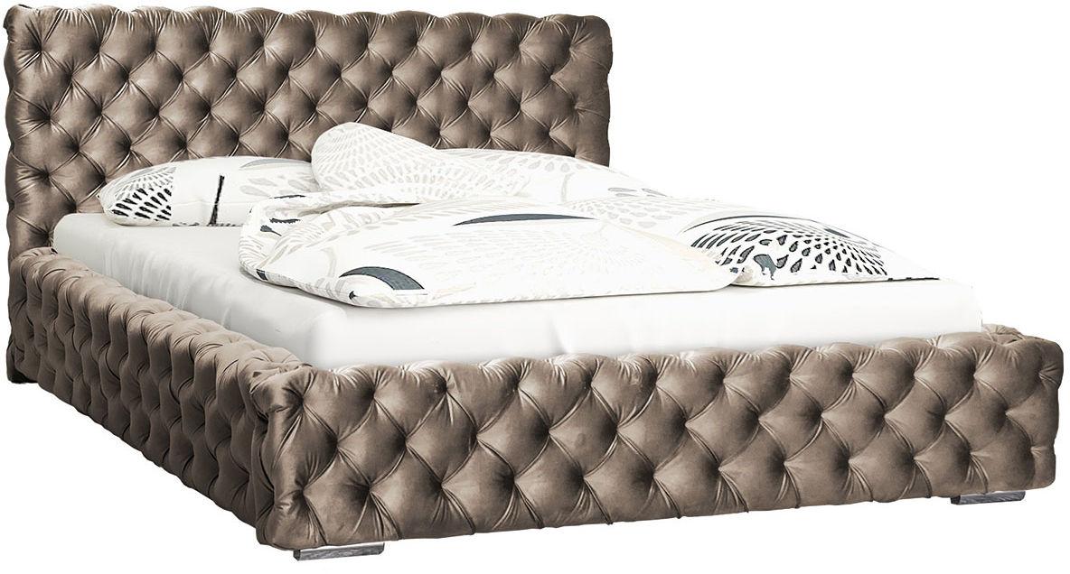 Dwuosobowe łóżko z zagłówkiem 140x200 Sari 3X - 48 kolorów