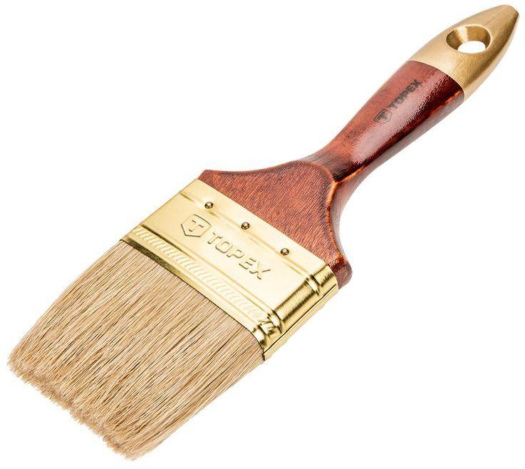Pędzel płaski uniwersalny 4.0cala włosie naturalne skuwka stalowa 19B640