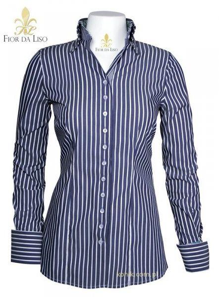 Koszula ANDREA damska - FIOR DA LISO - ultramarine stripe