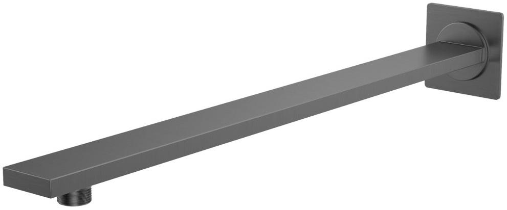 Kohlman Experience Gray kwadratowe ścienne ramię do deszczownicy 40cm szczotkowany grafit WQEG