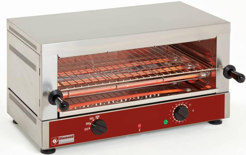 Salamander-opiekacz elektryczny 1 poziom kwarc 2700W 640x380x(H)330mm