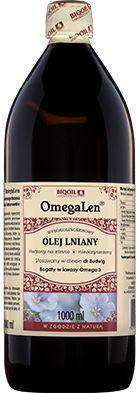 Olej lniany tłoczony na zimno OmegaLen  1 L