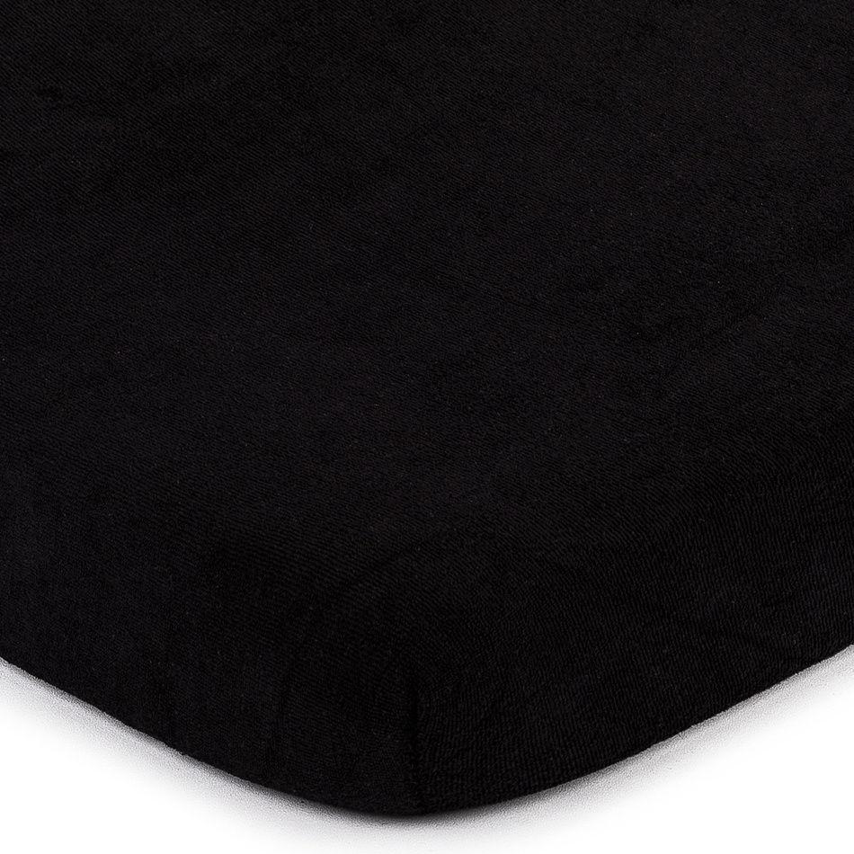 4Home prześcieradło frotte czarny, 180 x 200 cm, 180 x 200 cm
