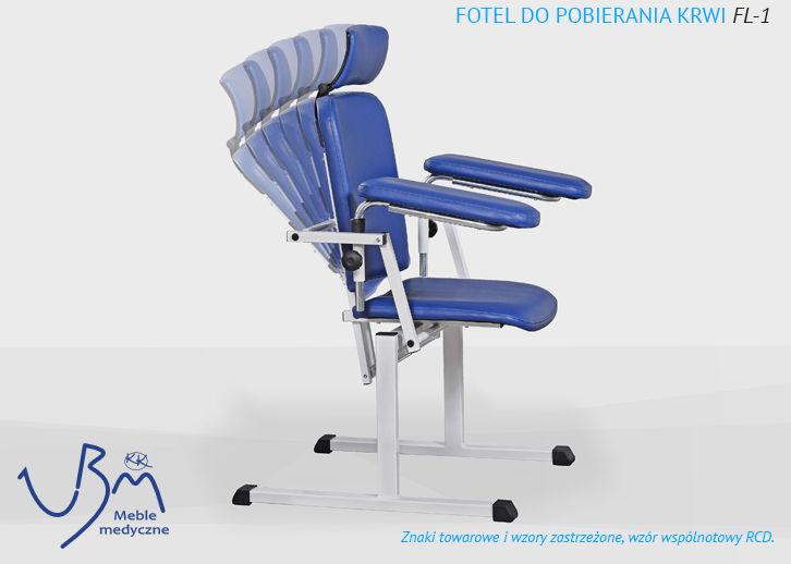 Fotel do pobierania krwi FL-1 ( funkcja fotela laryngologicznego )