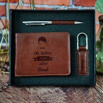 Hottest Man - zestaw z portfelem