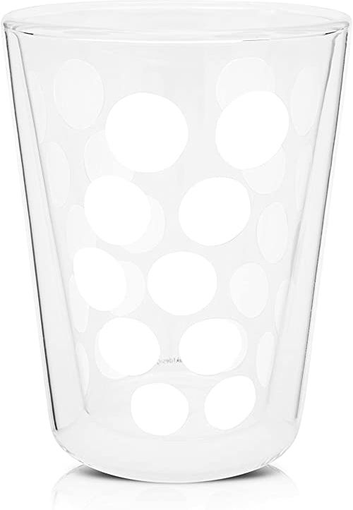 Zak Dot podwójna ścianka szkło 35 cl, biała