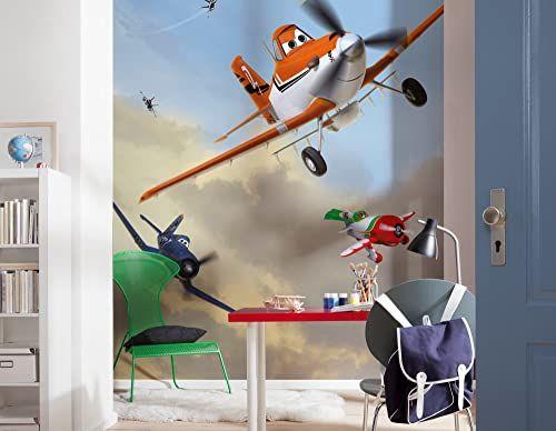 Komar Disney samoloty kurz i przyjaciele tapeta mural, winyl, wielokolorowa, 184 x 0,2 x 254 cm