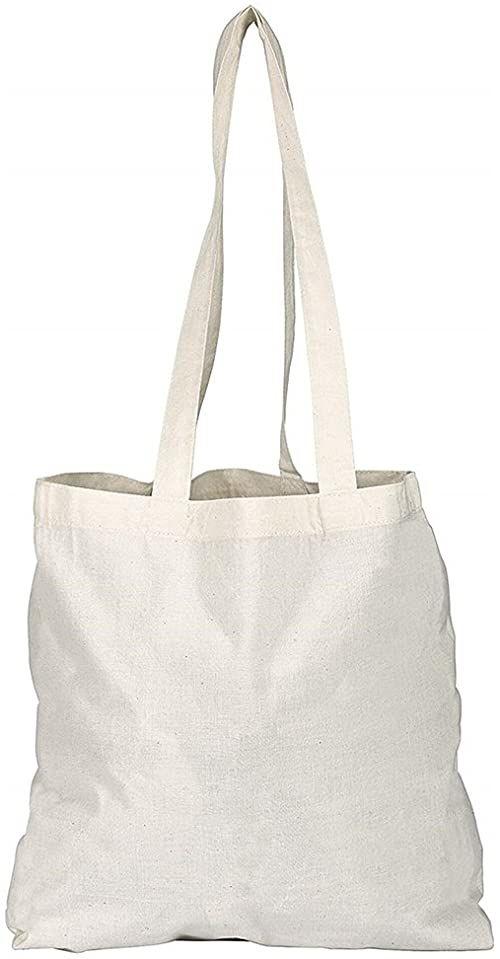 eBuyGB bawełniana torba na zakupy płócienna i plażowa, 42 cm, beżowa