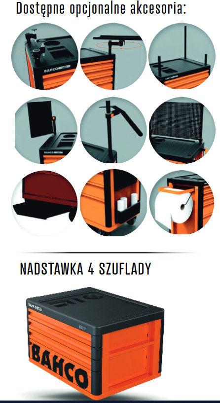 wózek narzędziowy 7-szufladowy pomarańczowy Premium Bahco [1477K7]