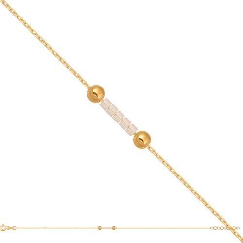 Złota bransoletka damska łańcuszkowa Br709