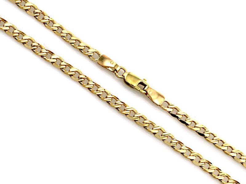 Złoty łańcuszek 333 pancerka 55cm uniseks 4.58g
