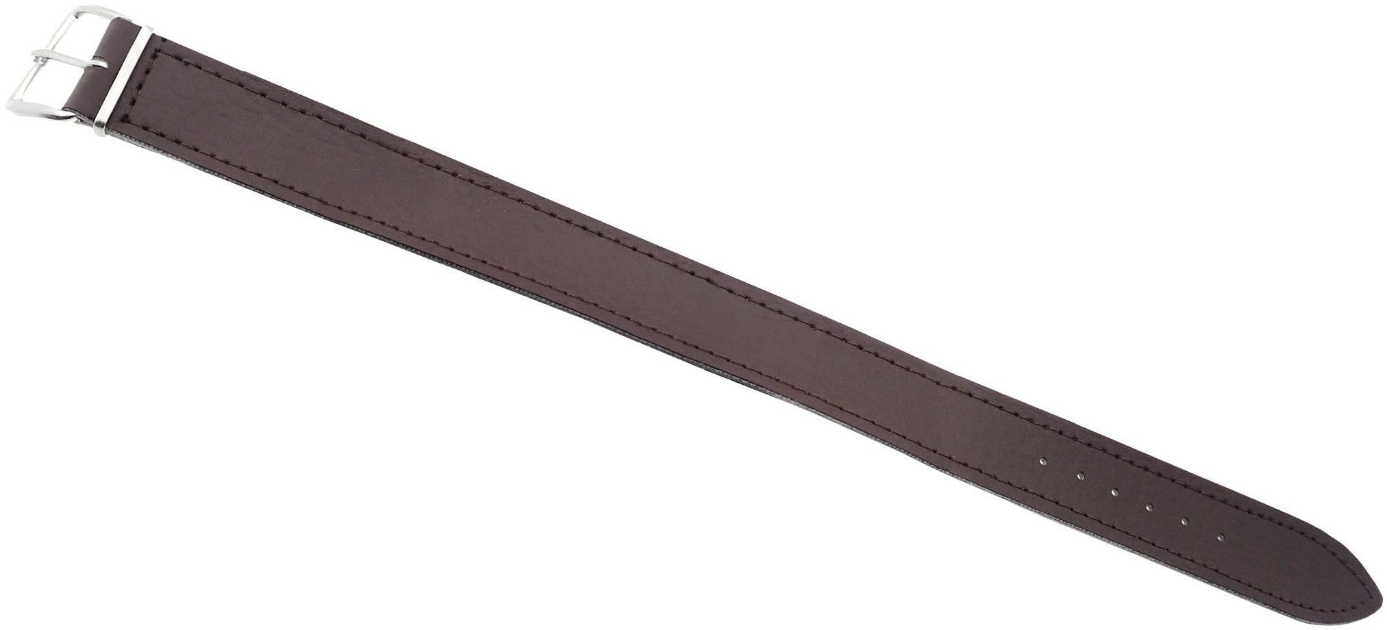 Skórzany pasek przeciągany do zegarka 18 mm brązowy