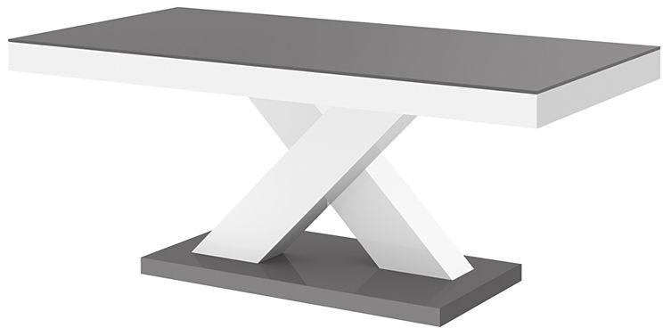 Praktyczny ławostół szaro - biały połysk - Canelo 3X