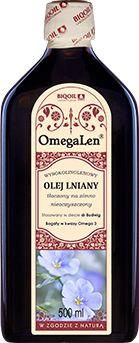 Olej lniany tłoczony na zimno OmegaLen  500 ml