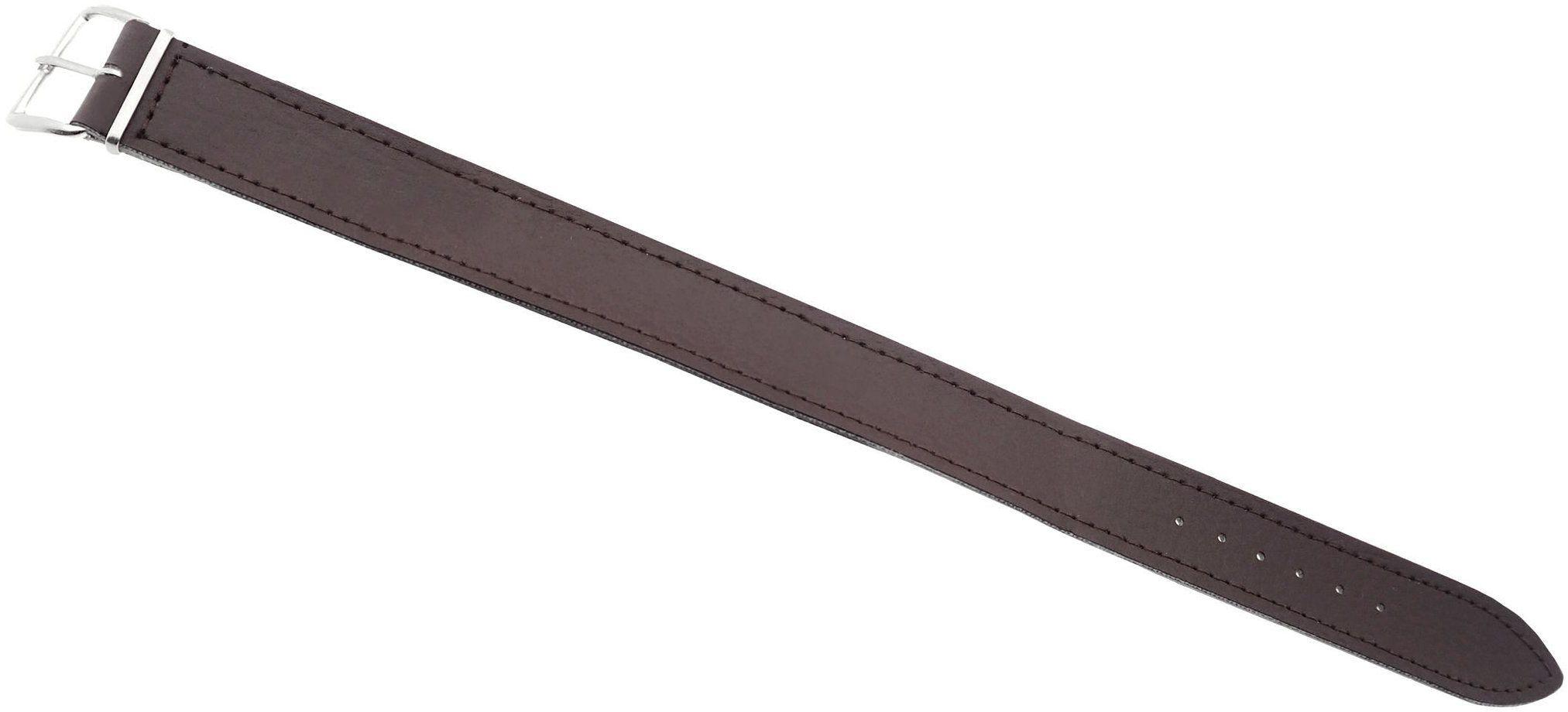 Skórzany pasek przeciągany do zegarka 20 mm brązowy