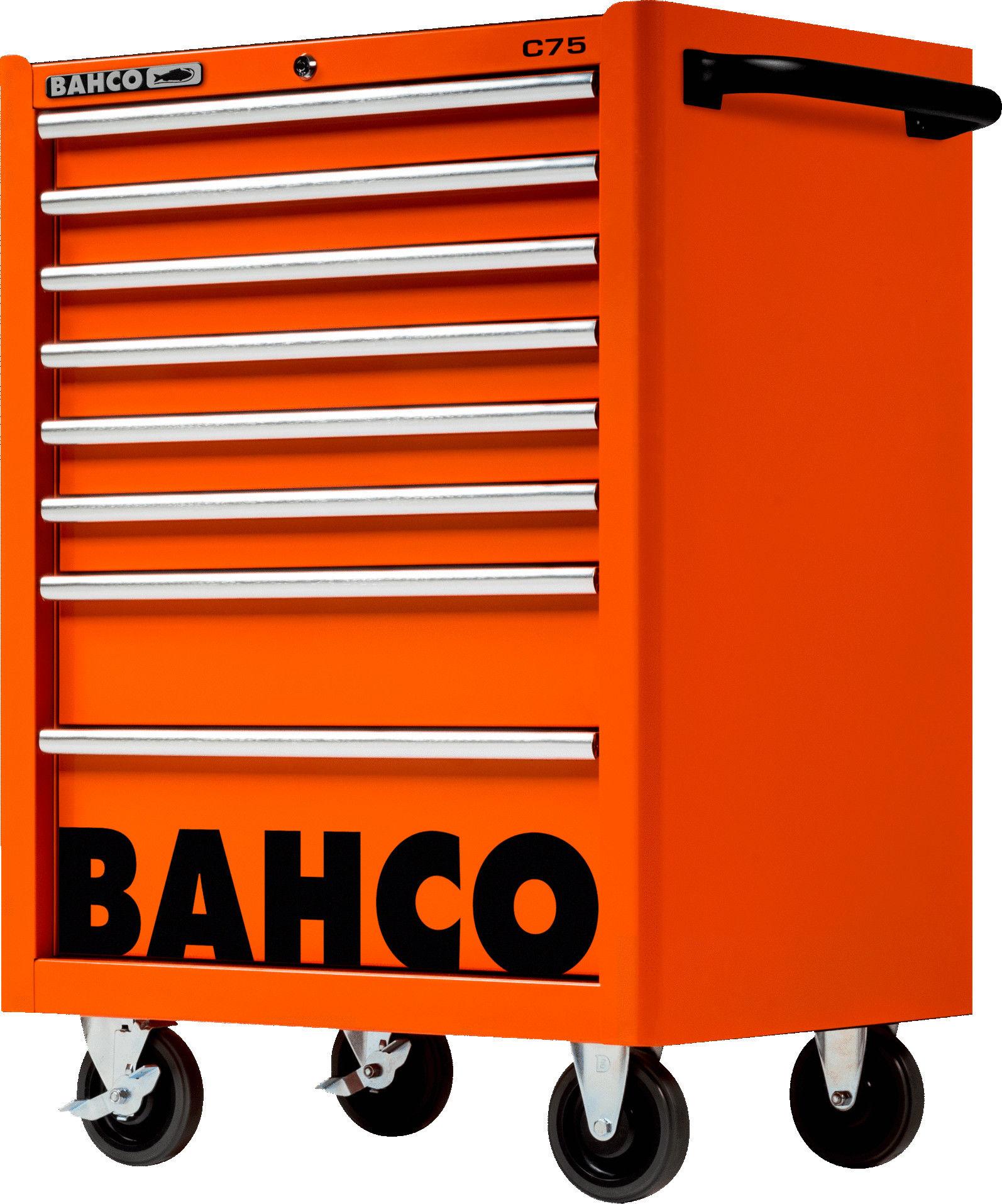 wózek narzędziowy 8-szufladowy pomarańczowy CLASSIC Bahco [1475K8]