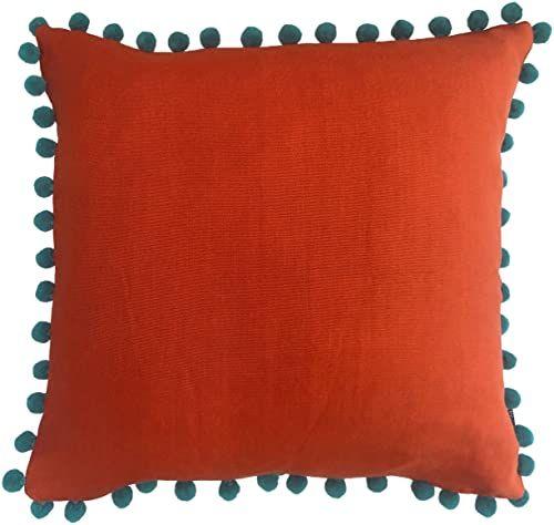 """Riva Home Poduszka z wypełnieniem z pierza, pomarańczowa, 50 x 50 cm (20"""" x 20"""")"""