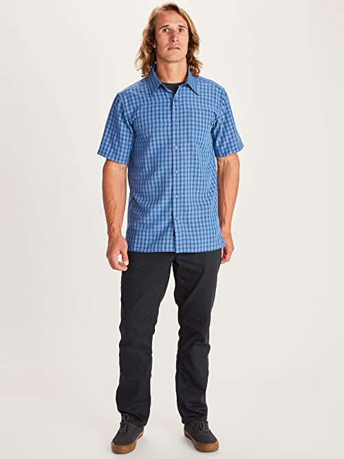 Marmot Eldridge męska koszula z krótkim rękawem niebieski niebieski M