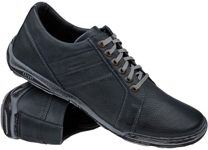 Półbuty buty KACPER 1-4237-409 Granatowe - Granatowy Niebieski