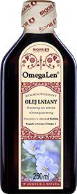 Olej lniany tłoczony na zimno OmegaLen  250 ml