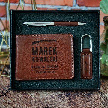 Pierwsza strzelba - zestaw z portfelem