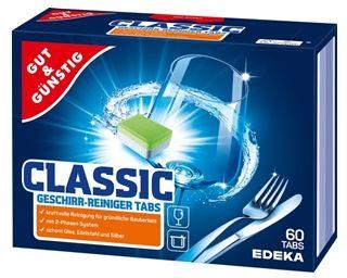Gut&Günstig Classic Geschirr-Reiniger Tabs Tabletki do zmywarki 60szt
