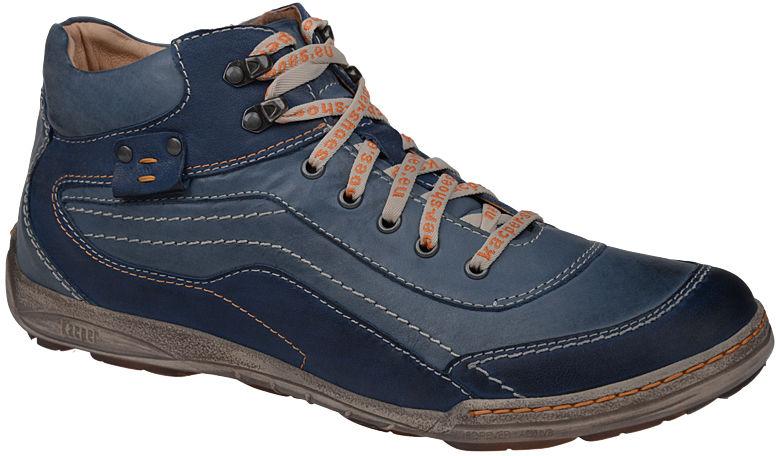 Trzewiki ocieplane KACPER 3-4251 Niebieskie - Multikolor Niebieski Granatowy