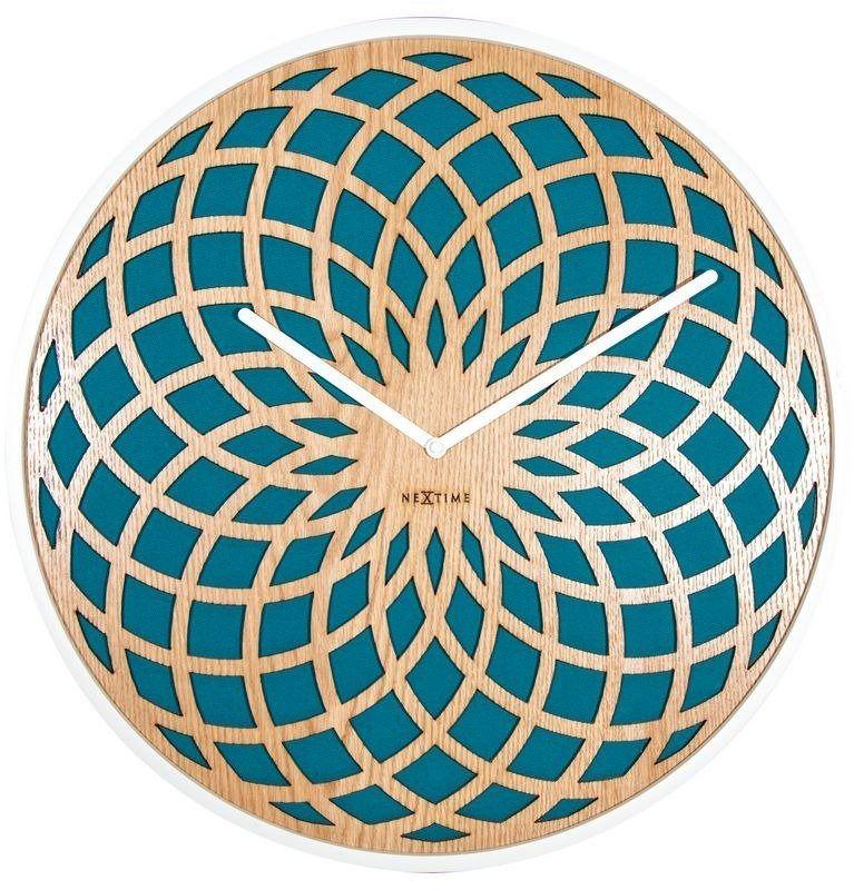Nextime - zegar ścienny sun large - turkusowy
