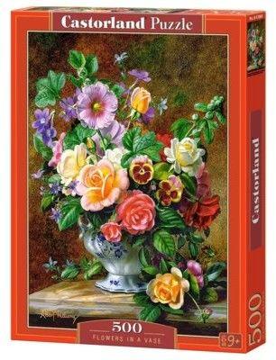 Puzzle Castor 500 - Kwiaty w wazonie, Flowers in a Vase