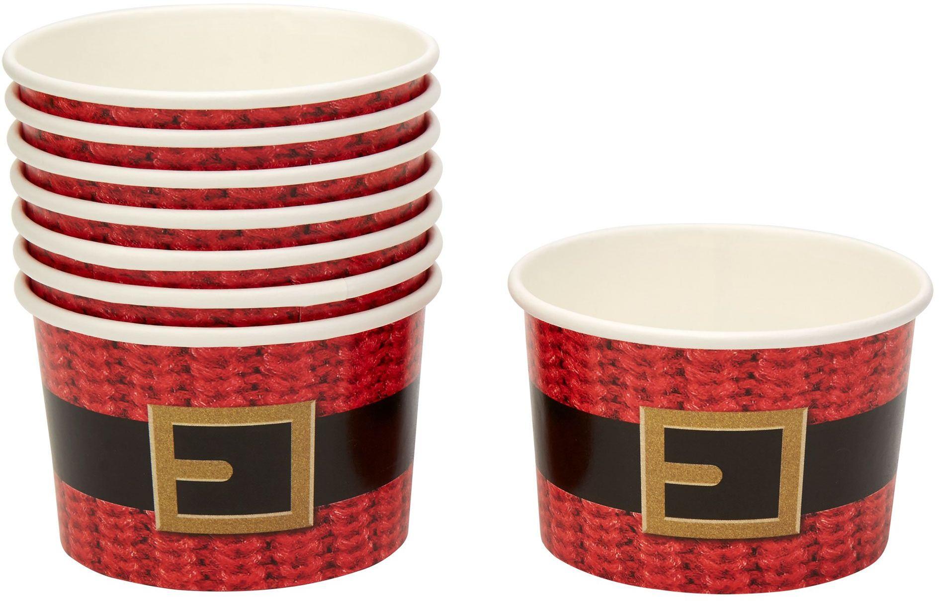 Neviti Drogi Święty Mikołaj przyjęcie papierowe pojemniki do smakołyków - opakowanie 8 szt.