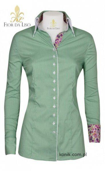 Koszula EMANUELA II damska- FIOR DA LISO - smaragd green check