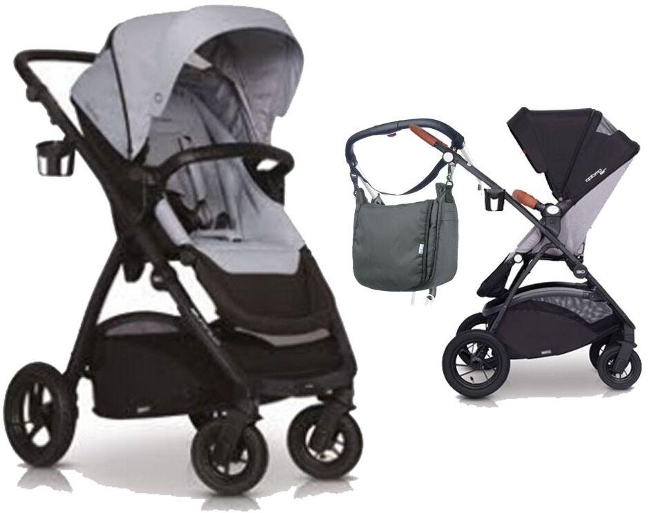 Easygo optimo air pearl wózek do 22 kg z obracanym siedziskiem na pompowanych kołach + torba dla mamy gratis!