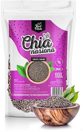 Real Foods - Nasiona CHIA 1000g