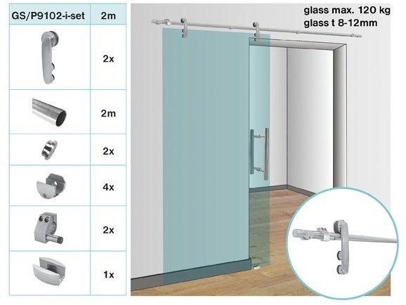 Okucia - drzwi przesuwne, system rurowy AISI304