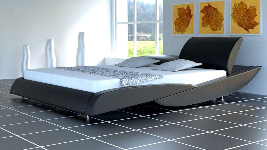 Łóżko do sypialni Spinnel skóra naturalna