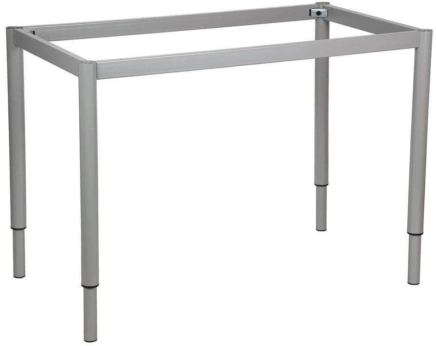 Stelaż ramowy regulowany na wysokość, 136x66 cm - noga okrągła. Do stołu lub biurka.