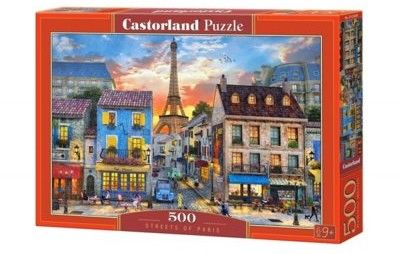 Puzzle Castor 500 - Uliczka w Paryżu, Streets of Paris