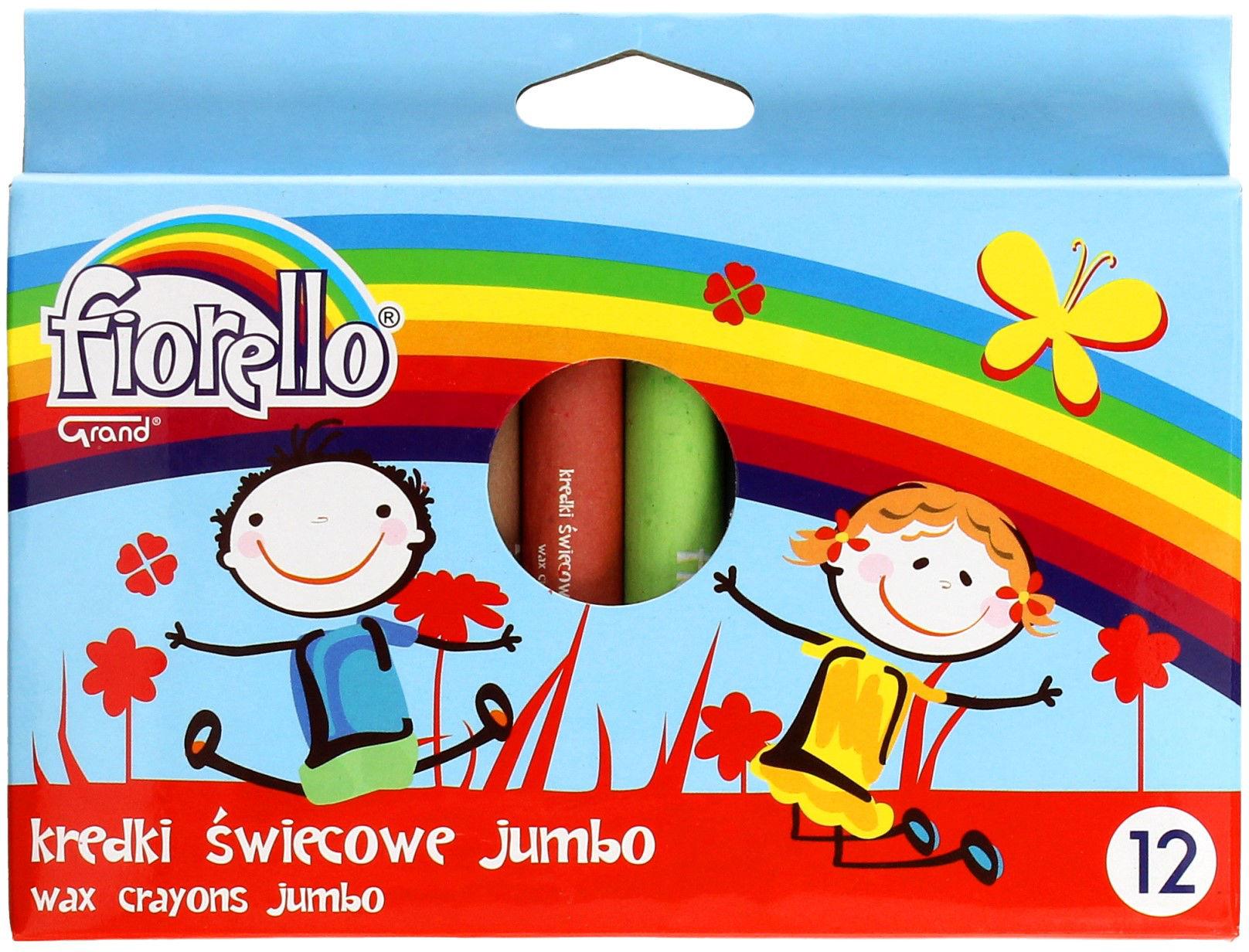 Kredki świecowe 12kol Jumbo Fiorello