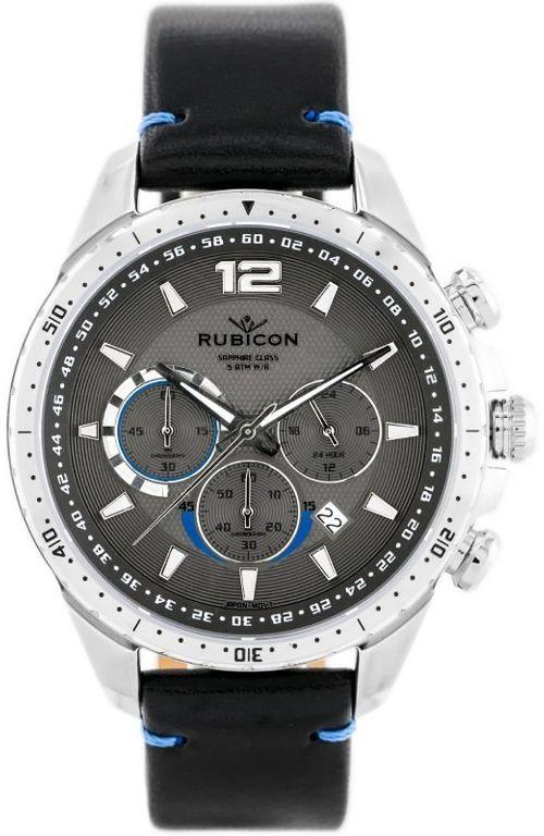 ZEGAREK MĘSKI RUBICON RNCD98 - CHRONOGRAF (zr095c) black/silver