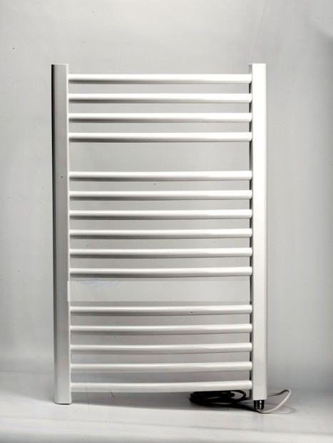 Grzejnik łazienkowy wetherby - elektryczny, wykończenie zaokrąglone, 600x800, biały/ral