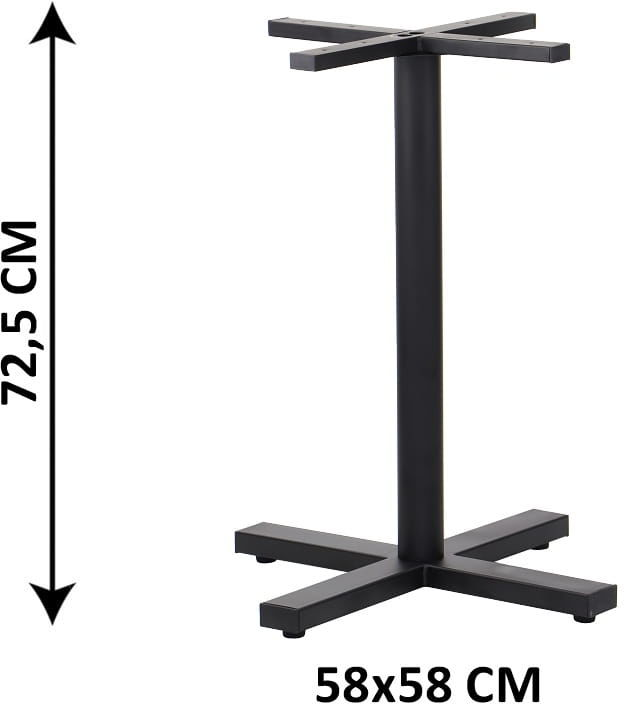 Podstawa stolika SH-3046-1/B, 58x58 cm, (stelaż stolika), kolor czarny