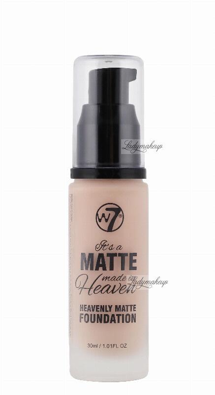 W7 - It''s a Matte made in Heaven - HEAVENLY MATTE FOUNDATION - Matujący podkład do twarzy - SAND BEIGE